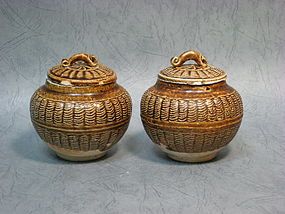 A Pair of Jizhou Jars of Southern Song Dynasty