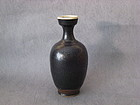 An Elegant Cizhou Vase with Silver Oil-Spots Decoration