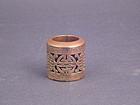 A Unique Gilt Bronze Archer's Ring