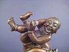 A Joyful Bronze Paper Weight of Qing Dynasty