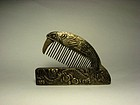 An Exquisite Silver Comb of Qing Dynasty