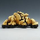 An Elegant Ivory Brushrest of Qing Dynasty