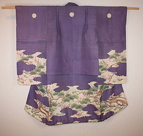 Edo bakumathu wonderful yuzen child furisode kimono