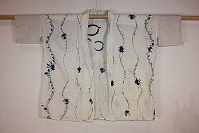 Meiji shirakage-shibori hanjyuban hand spun