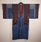 Edo yose-gire patchwork silk jyuban kimono
