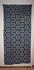 Meiji Indigo dye katazome cotton futon Cover