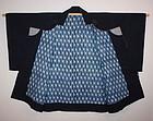 Edo Indigo dye katazome dotyubaori  coat textile