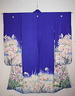 gorgeous beautiful taisyo silk furisode kimono