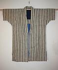 meiji Stripes hemp and cotton noragi hand spun