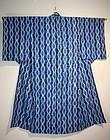 Japanese taisyo Indigo dye shibori cotton kimono