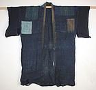 Meiji hemp katazome boro Patchwork noragi textile