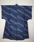 Taisyo Indigo dye narumi-shibori cotton kimono