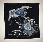 Edo Indigo dye cotton tsutsugaki textile