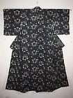 Meiji hand-spun katazome Indigo dye cotton Rare kimono