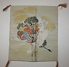 Japanese taisyo beautiful silk nishijin textile fukusa