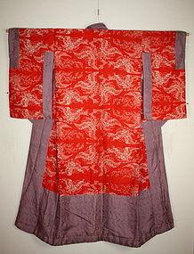 Meiji beni-itajime silk hagoromo jyuban kimono textile