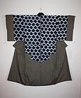 Edo period shibori & Stripes Patchwork nakagi-kimono