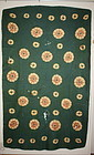 Antique Mongolia Carpet shibori textile 18th century