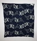 Meiji e-kasuri Indigo dyeing cotton textile Hawk