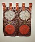 Japanese Meiji kinran silk nishijin textile uchishiki