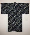 Excellent katazome kimono Thick indigo-dye cotton 1868