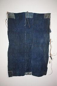 Edo Indigo thick hemp boro tattered rag textile