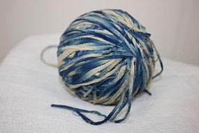 Meiji Indigo dye cotton Lump of a charming thread