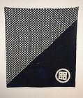 Edo Indigo dye cotton tsutsugaki furoshiki rare textile