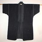meiji Indigo dye & sumi cotton sashiko noragi textile