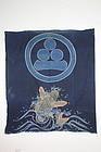 Edo Indigo dye cotton tsutsugaki futon Cover textile
