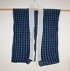 Meiji Indigo dye cotton mojiri-ori asehajiki textile