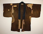 Edo era Very rare boro patchwork Leather Haori textile