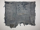 meiji boroTattered Patched sashiko Stitch textile Rare