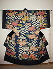 Edo yuzen-dye & Embroidery yogi kimono Very rare