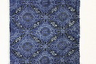 Meiji katazome indigo dye cotton  high quality