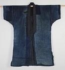 Meiji Ranru Boro Indigo cotton Sasiko patchwork Noragi