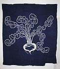 Meiji Tsutsugaki Indigo cotton Hand-spun  thick