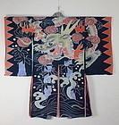 Meiji Indigo Tsutsugaki cotton Hanten Dragon rare