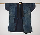 Meiji antique  boro  Indigo dye cotton sashiko noragi