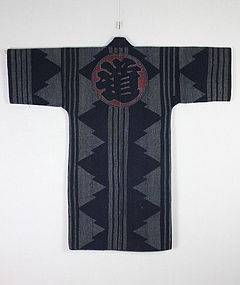 Edo Long Hikeshi-Hanten Indigo dyeing cotton Sashiko