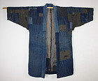 antique boro wonderful noragi indigo dye sashiko Stitch