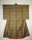 Meiji gorgeous antique nishijin weave uchikake kimono