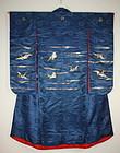 Meiji gorgeous embroidery weave silk uchikake kimono
