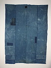 antique boro Indigo dye cotton Patched sashiko Stitch futon cover