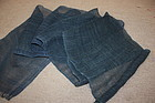 Japanese antique old indigo dye hemp of hand-spun Meiji era