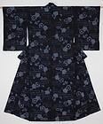 Edo Indigo Hand Shibori Cotton kimono