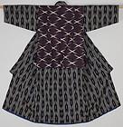 Edo Kasuri Katzome Silk Child kimono.