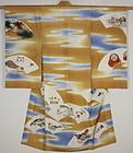 Taisho Silk Child kimono Yuzen-dye Japanese toys