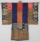 Edo Tsugihagi Child kimono Silk Hand-spun