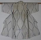 Meiji Indigo Cotton Shirakage-Shibori Child Kimono Hand-spun